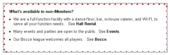 Text Box: What's available to non-Members? 