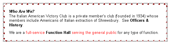 Text Box: Who Are We?          We celebrated our 80th Anniversary in 2015